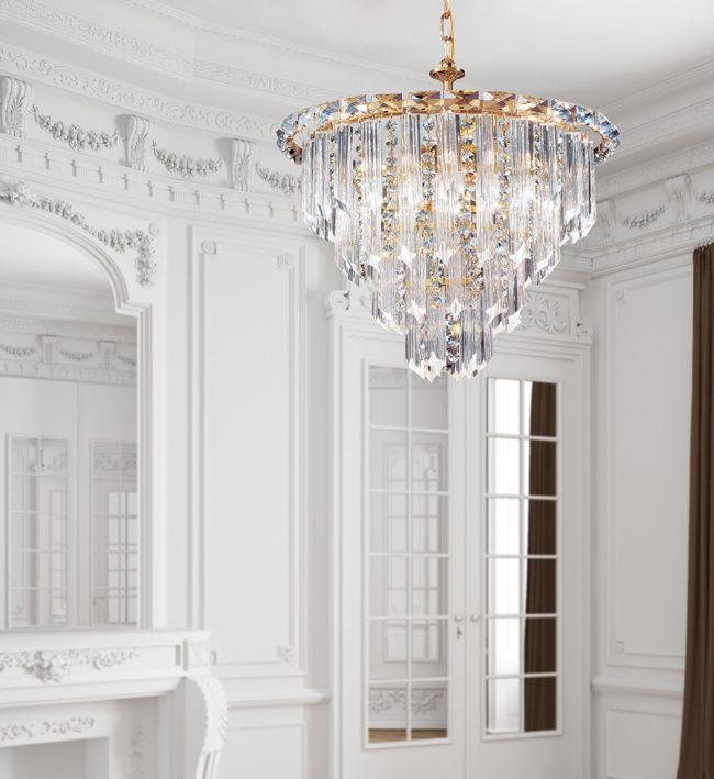 Lampadari di Lusso triedri - Cristalli